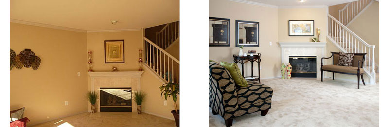before after interior photography